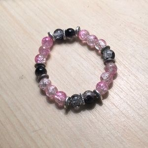 Jewelry - Handmade Glass Bead Stretch Bracelet